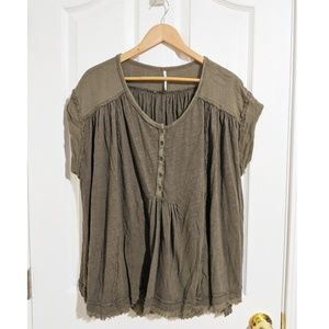 Free People green oversized tunic S